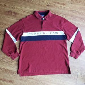 Vintage Tommy Hilfiger Long Sleeve Collar Shirt